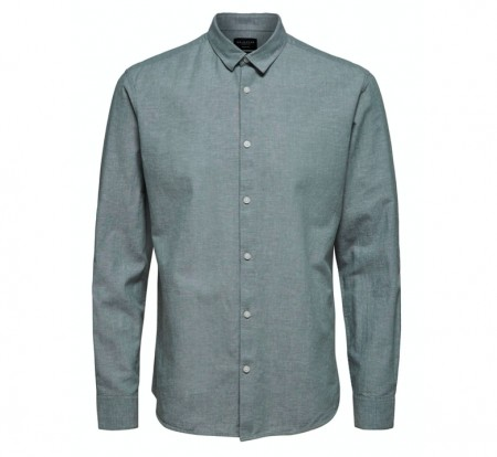 Selected Homme - Slimlinen shirt / Grønn