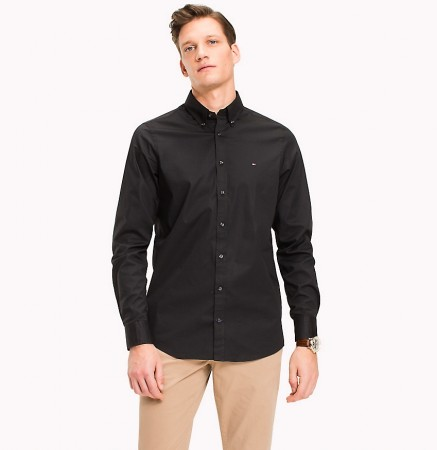 Tommy Hilfiger - Core strech slim shirt / black
