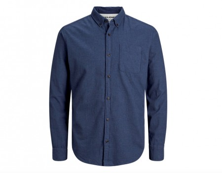 Jack & Jones - Melange shirt / blå