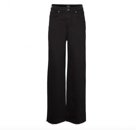 Vero Moda - Kathy hr wide jeans / Sort