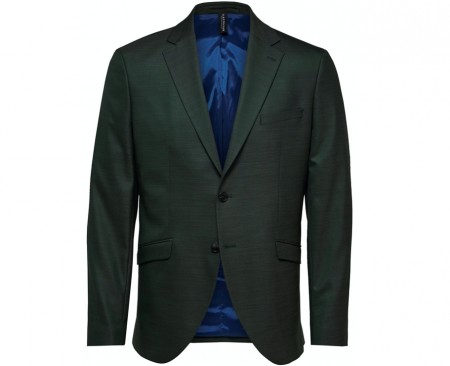 Selected Homme - Slim-mylostate flex green blazer