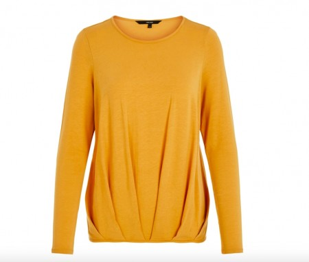 Vero Moda -  Ava pleat top / oker