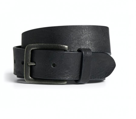 Jack & Jones - Leather belt / black