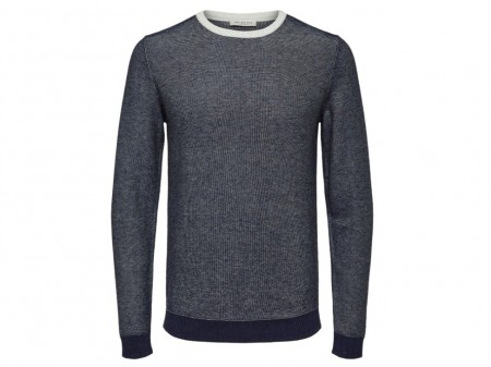 Selected Homme - Bran blocking crew neck / Blå