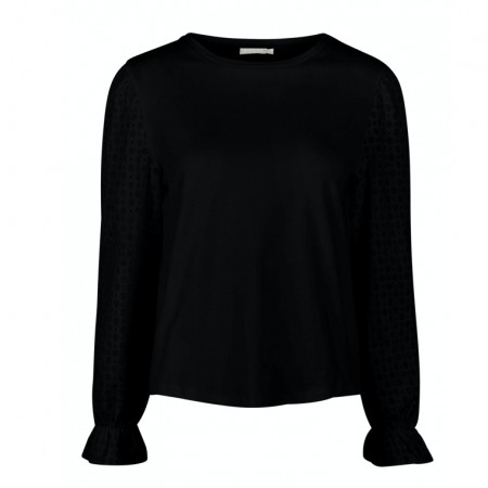 Pieces - Pclizzie ls top / Black