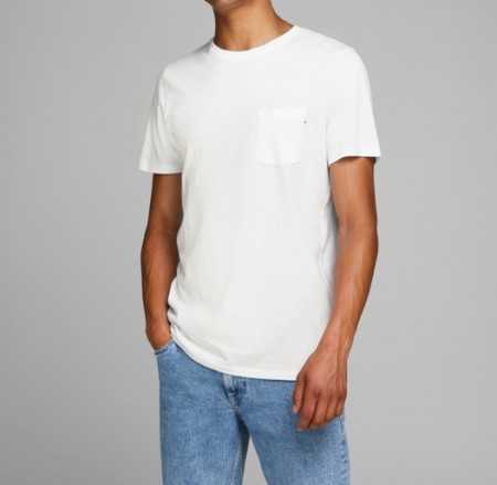 Jack & Jones - Pocket tee / Hvit