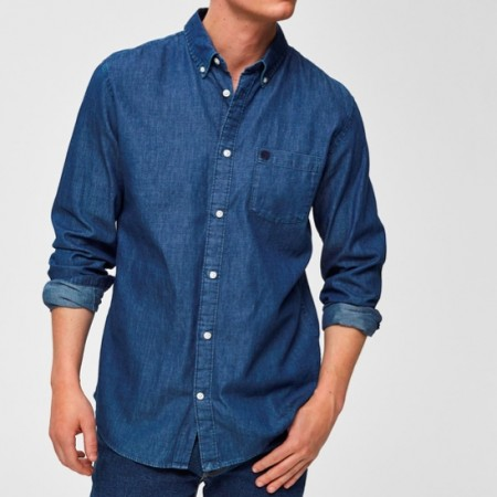 Selected Homme - Collect shirt / Medium blue denim