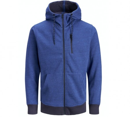 Jack & Jones - Best sweat hoody / klarblå