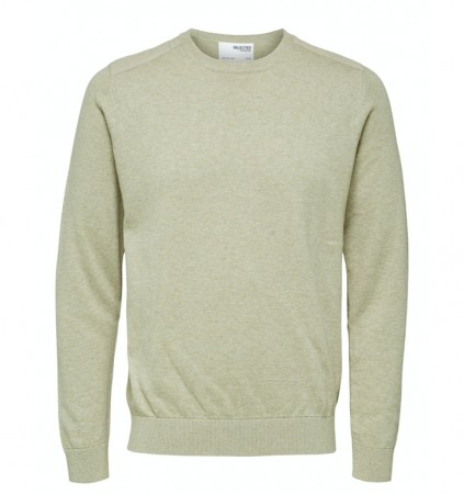 Selected Homme - Slhkeston knit crew neck / Laurel wreath
