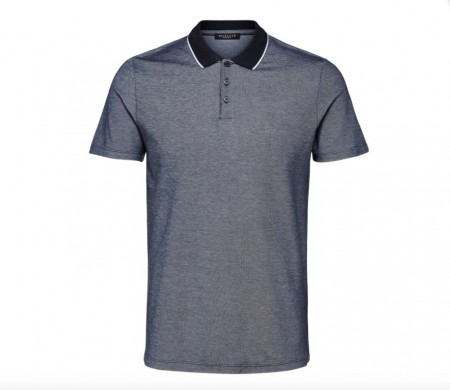 Selected Homme - Tyron ss polo / Blå