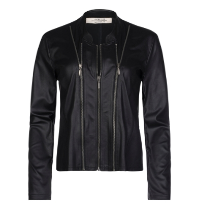 Luxzuz - Athena coated suede jacket / Sort