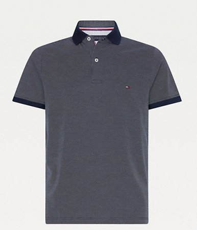 Tommy Hilfiger - Two tone textured polo