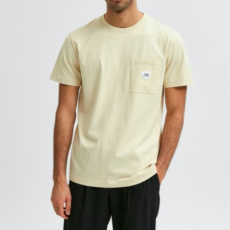 Selected Homme - Slhenzo pocket ss o-neck / Beige