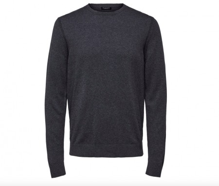 Selected Homme - Daniel crew neck / Grå