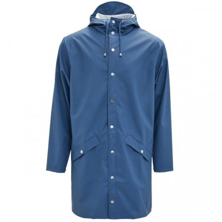 Rains long jacket / Faded blue