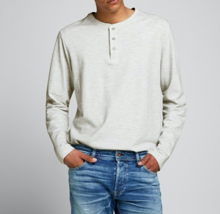 Jack & Jones - Henley / Ecru