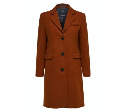 Selected Femme - Slfelina wool coat / Dachshund