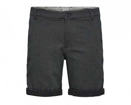 Selected Homme - Straight-paris mix shorts / Navy