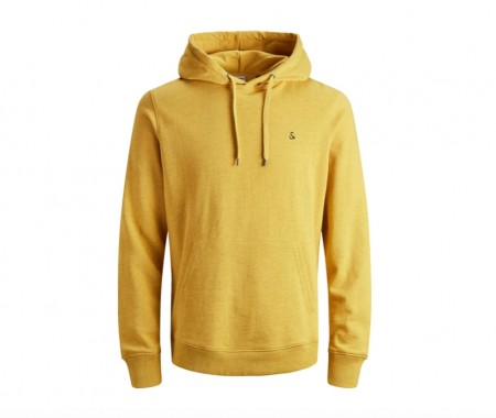 Jack & Jones - dustin sweat hood/ gul