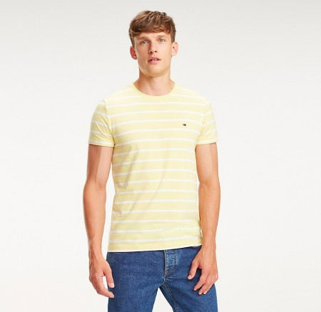 Tommy Hilfiger - Stretch slim fit tee / gul
