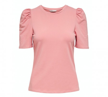 Only Rose T- Skjorte Dame Onllive Love Puff 2/4 Top