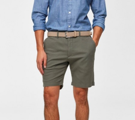 Selected Homme - straight chris shorts / Grønn