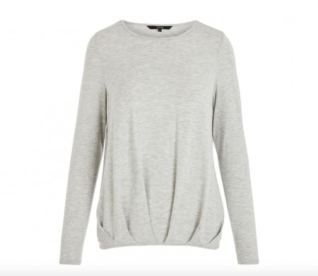 Vero Moda -  Ava pleat top / Grå