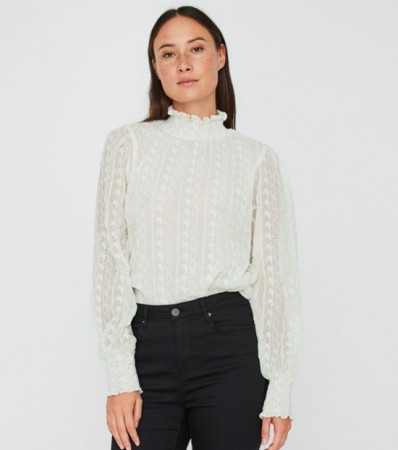 Vero Moda - Marlyn high-neck smock / Off white