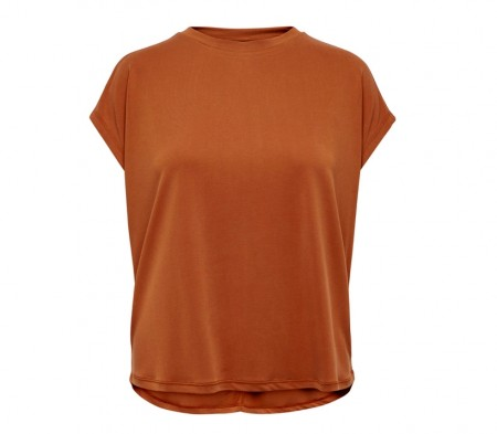 Only - Free s/s o-neck Top / Rust
