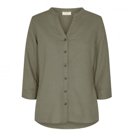 Freequent - fqlava ashape shirt / Dusty olive