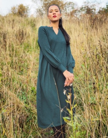Nectar - Una knit dress / Petrol