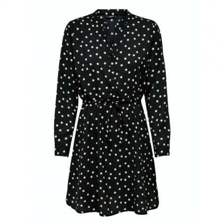 Only - Onlcory l/s v-neck tunic / black dots