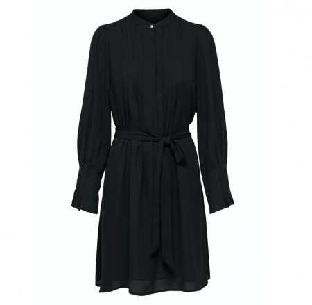 Selected Femme - Vienna ls short dress / Black