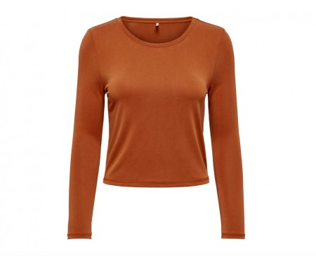 Only - free l/s Short Top / Rust