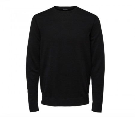Selected Homme - Daniel Crew Neck / Sort
