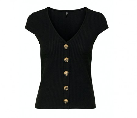 Only - Nella s/s button top / Black