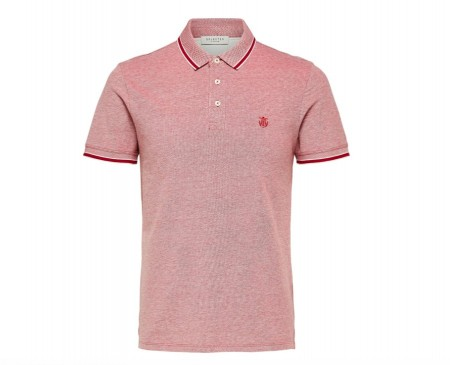 Selected Homme - Twist ss polo / Brick red