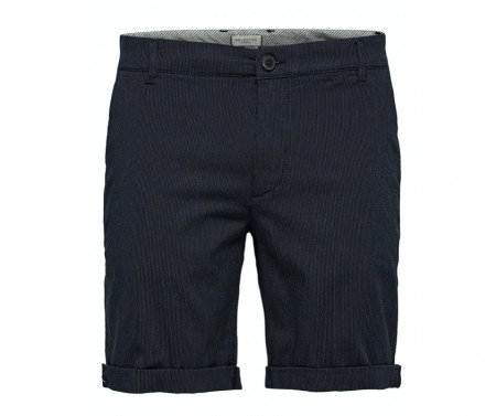 Selected Homme - Straight-paris mix shorts / Black
