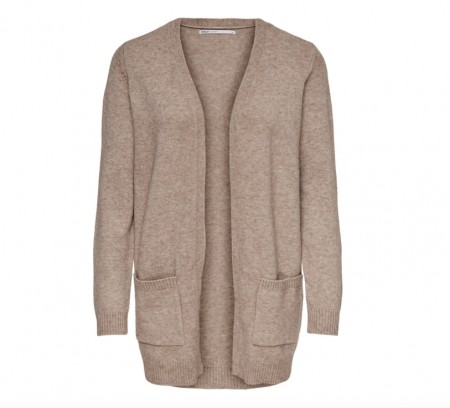 Only - Lesly l/s open cardigan / Sand