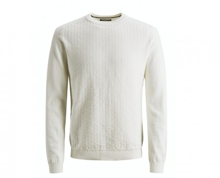 Jack & Jones - Blasheran knit / Hvit
