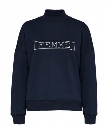 Selected Femme - Sigrid sweat / blå
