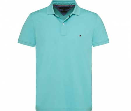 Tommy Hilfiger - Regular Polo 424 / Turkis