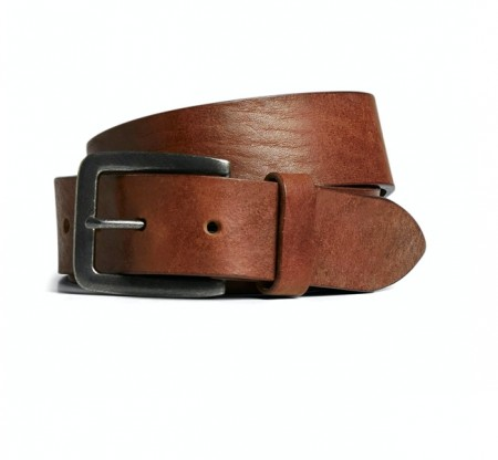 Jack & Jones - Leather belt / mocha