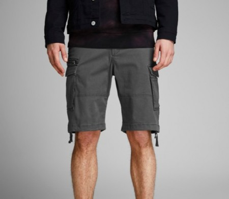 Jack & Jones - Chop cargo shorts / grå