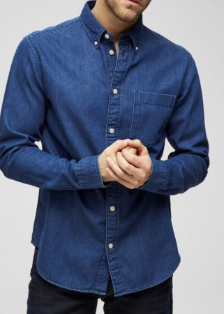 Selected Homme - Landon perfect shirt / mellomblå
