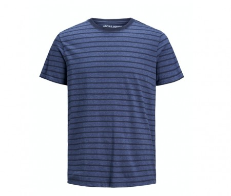 Jack & Jones - Striped tee / Denim blue