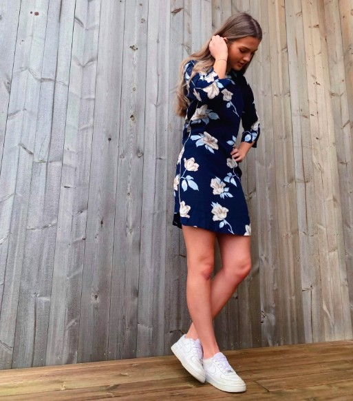 44b9d694 Freequent - Tinna dress / Blå | Hans og Hennes (hogh.no) klær og tilbehør  til dame og herre